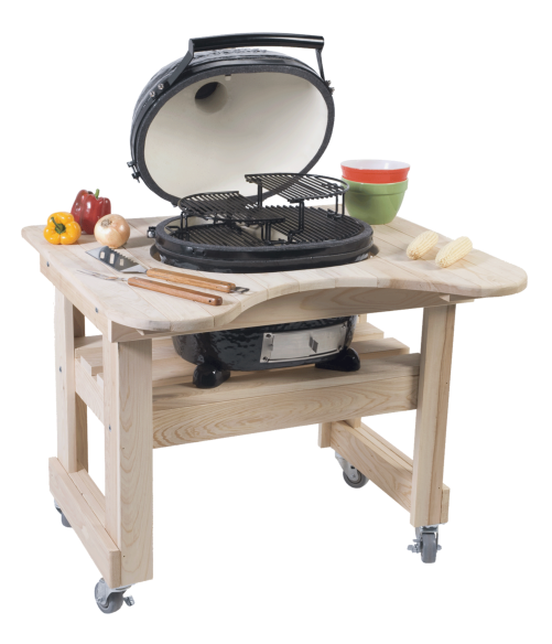 picture of primo oval junior smoker and charcoal grill - Primo Grills