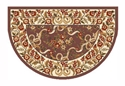 Picture of Plum & Ivory Floral Hearth Rug