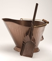 Picture of Antique Copper Hod and Shovel Set