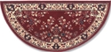 Picture of 56'' Burgundy Oriental Virgin Wool Half-Round Rug