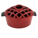 Picture of 2.2 Qt. Lattice Steamer Red Enamel