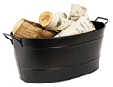 Picture of Black Oval Steel Tub