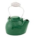 Picture of 2 1/2 Qt. Cast Iron Humidifying Kettle - Green Enamel