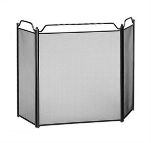 Picture of Screen with Rails 3-Fold Screen - Black